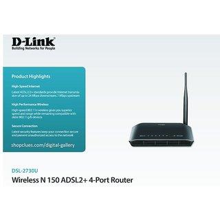 DLINK High Speed Internet Broadband Modem Wifi Router ADSL2+ BSNL AIRTEL
