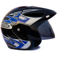 Autofy - O2 -  Full face Helmet (Black  Blue)