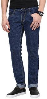 Masterly Weft Blue Regular Fit Jeans for Men