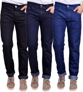 Pack Of 3 Masterly Weft Men Multicolor Mid Rise Regular Fit Jeans