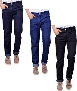 Masterly Weft Multi Regular Fit Jeans for Men Pack of 3