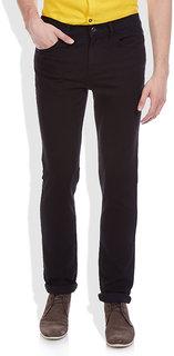 Masterly Weft Black Regular Fit Jeans for Men