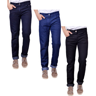 Masterly Weft Multi Regular Fit Jeans for Men Pack of 3