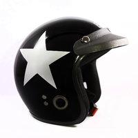 Autofy - Habsolite - Ecco -Open Face Helmet (Black  Grey)