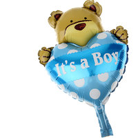 Magideal 10 Baby Shower Birthday Newborn Party Balloons Decoration Love Bear Blue
