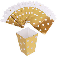 Magideal 12Pcs Popcorn Box/Bucket Gilt Dot Paper Movie Treat Party Food/Loot Bag