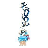 Magideal 5x Baby Shower Birthday Party Supplies Hanging Swirls Decorations Sky Blue