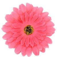 Magideal  Sun Flower Hair Rope Floral Hair Claws Brooch Barrettes Hair Ornaments Pink