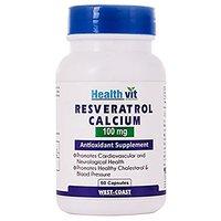 Healthvit Resveratrol 100mg Calcium 60 Capsules