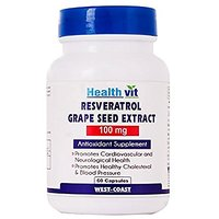 Healthvit Resveratrol 100mg With Grape Seed Extract 60 Capsules