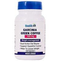 Healthvit Garcinia Cambogia + Green Coffee 500mg Extract 60 Capsules