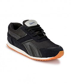 Groofer Mens Black Training Sport Shoes