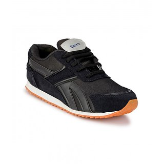 Groofer Mens Black Training Sport Shoes