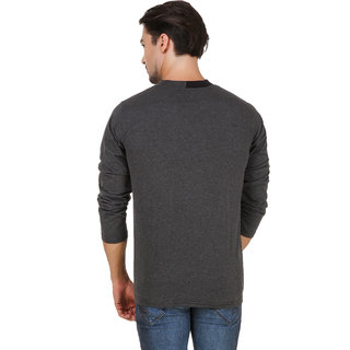 e684efe5edc0 Buy Aurelio Marco Stylish Designed Grey Black V Neck Men T Shirt Online -  Get 75% Off