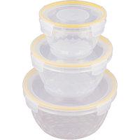 Trendy Glass Cut Lock & Lock 3pc Orange Container - 3291828