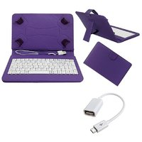 7inch Keyboard For Acer A1-713 HD Tablet - Purple With OTG Cable By Krishty Enterprises