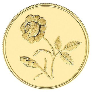1GM Gitanjali Rose 995-24Kt Gold Coin