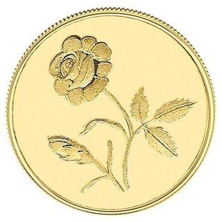 1GM Gitanjali Rose 918-22Kt Gold Coin