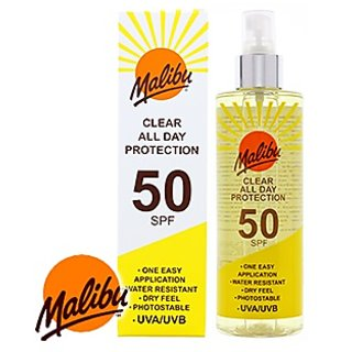 Malibu Clear All Day Protection Spray SPF-50,250ml