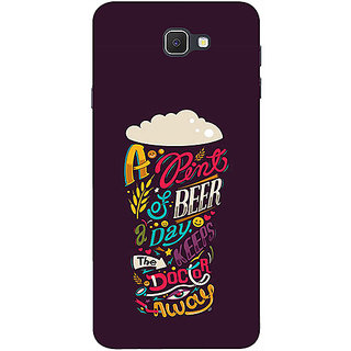 Casotec Pint Of Beer Print Design 3D Printed Hard Back Case Cover for Samsung Galaxy J7 Prime