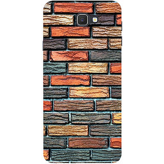 Casotec Brick Wall Design 3D Printed Hard Back Case Cover for Samsung Galaxy J7 Prime