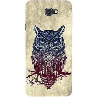 Casotec Owl Pattern Design 3D Printed Hard Back Case Cover for Samsung Galaxy J7 Prime
