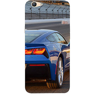 Casotec Car on Racing Track Design 3D Printed Hard Back Case Cover for Oppo F1S