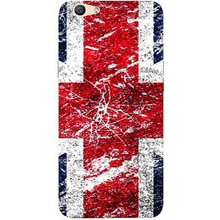 Casotec UK Flag Design 3D Printed Hard Back Case Cover for Oppo F1S