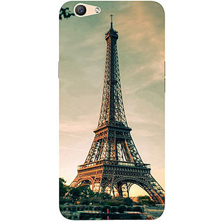 Casotec Eiffel Tower Beautiful Cityscape Design 3D Printed Hard Back Case Cover for Oppo F1S