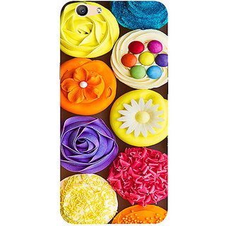 Casotec Cream Roses Design 3D Printed Hard Back Case Cover for Oppo F1S