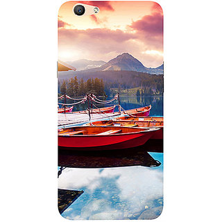 Casotec Sunset Sea Design 3D Printed Hard Back Case Cover for Oppo F1S