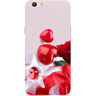 Casotec Valentines Day Gift Candle Heart Couple Rose Design 3D Printed Hard Back Case Cover for Oppo F1S
