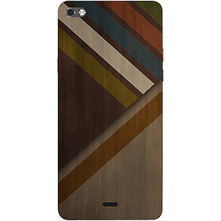 Casotec Wood Colorfull Pattern Design 3D Printed Hard Back Case Cover for Micromax Canvas Sliver 5 Q450