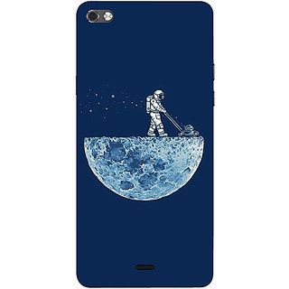 Casotec Moon Walk Design 3D Printed Hard Back Case Cover for Micromax Canvas Sliver 5 Q450
