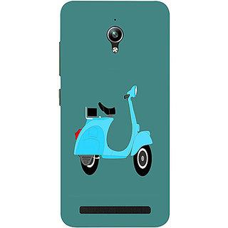 Casotec Scooter Design 3D Printed Hard Back Case Cover for Asus Zenfone Go ZC500TG 5inch