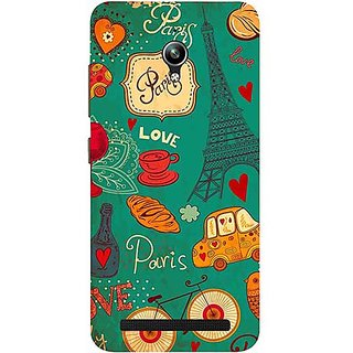 Casotec Paris Love Print Design 3D Printed Hard Back Case Cover for Asus Zenfone Go ZC500TG 5inch