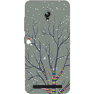 Casotec Winter Pattern Print Design 3D Printed Hard Back Case Cover for Asus Zenfone Go ZC500TG 5inch