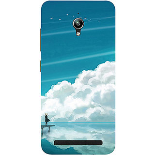 Casotec Clouds Pattern Print Design 3D Printed Hard Back Case Cover for Asus Zenfone Go ZC500TG 5inch