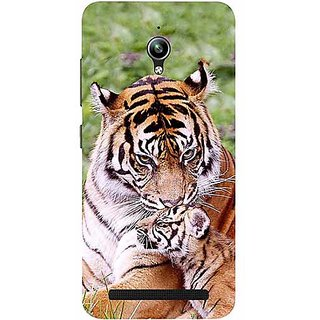 Casotec Tiger Design 3D Printed Hard Back Case Cover for Asus Zenfone Go ZC500TG 5inch