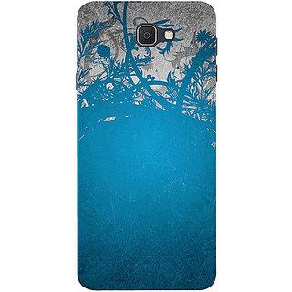 Casotec Blue Floral Pattern Design 3D Printed Hard Back Case Cover for Samsung Galaxy J7 Prime
