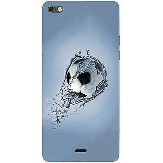 Casotec Football In Water Design 3D Printed Hard Back Case Cover for Micromax Canvas Sliver 5 Q450
