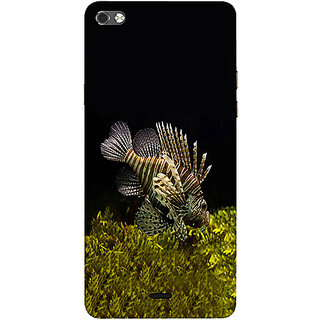 Casotec Sea Animals Design 3D Printed Hard Back Case Cover for Micromax Canvas Sliver 5 Q450