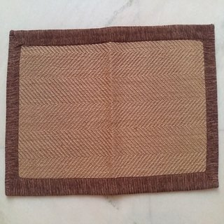 Jute Mat with Valvet Border Doormat