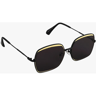 6by6 Black UV Protection Unisex Wayfarer Sunglass