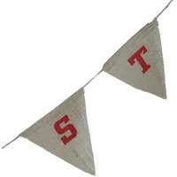 Magideal 15 Flags Merry Christmas Burlap Bunting Banner Rustic Shabby Chic Decoration