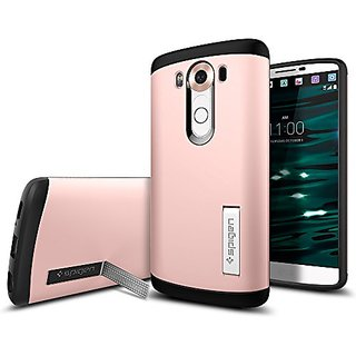 LG V10 Case, Spigen [Slim Armor] AIR CUSHION [Rose Gold] Air Cushioned Corners / Dual Layer Protective Case for LG V10 (2015) - Rose Gold (SGP11811)