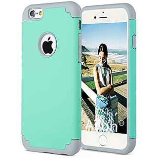 iPhone 6s plus Case,iPhone 6 plus Case,[5.5inch]by Ailun,Soft Interior Silicone Bumper&Hard Shell PC Back,Shock-Absorption&Skid-proof,Anti-Scratch Hybrid Dual-Layer Cover[Mint Green]