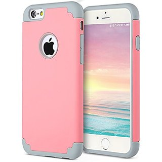 iPhone 6s Case,iPhone 6 Case,[4.7inch]by Ailun,Soft Interior Silicone Bumper&Hard Shell Solid PC Back,Shock-Absorption&Skid-proof,Anti-Scratch Hybrid Dual-Layer Slim Cover[Pink]