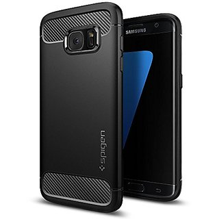 Galaxy S7 Edge Case, Spigen [Rugged Armor] Resilient [Black] Ultimate protection from drops and impacts for Samsung Galaxy S7 Edge (2016) - (556CS20033)
