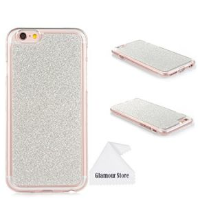 iPhone 6S Case,Bling Glitter Printed TPU Case Cover Skin Protective For Apple iPhone 6/6S 4.7 inch With a Free Cleaning Cloth As a Gift (Sliver)